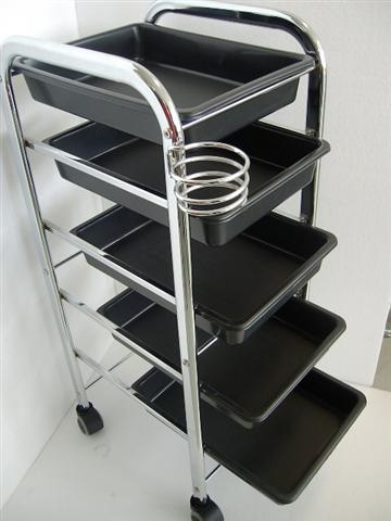 Trolley 5 Tray with with Dryer Holder