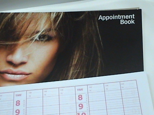 Hairdressing Beauty Appointment Book 9 Columns